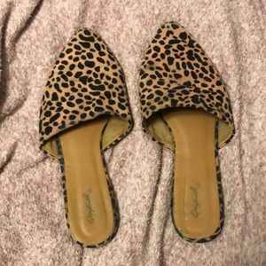 Leopard Slip-on Shoes